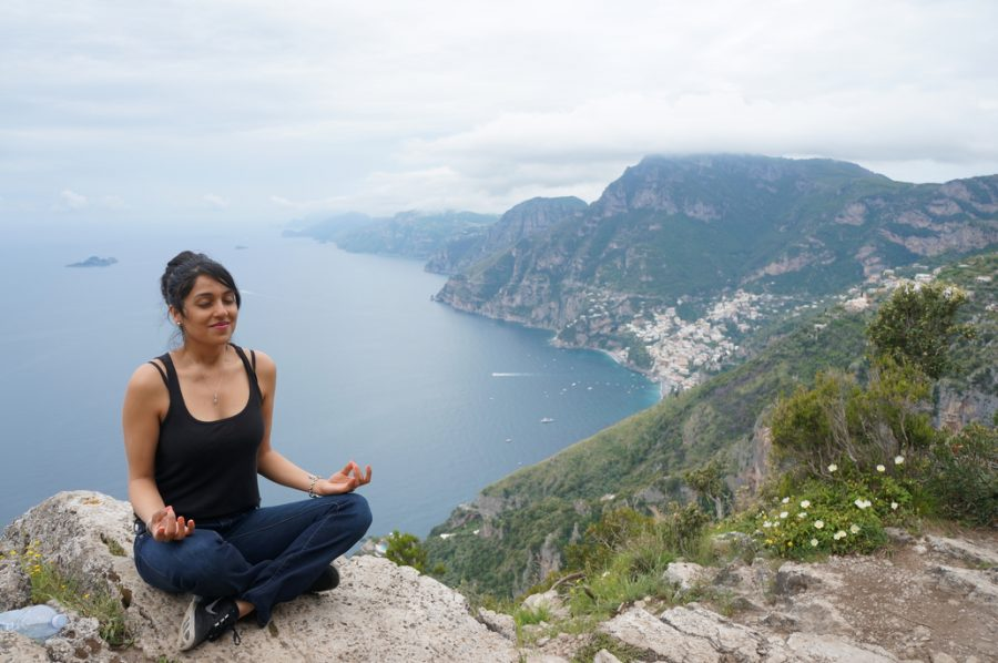 meditation, amalfi coast, mediate, italy, path of gods